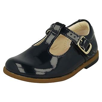 Infant Girls Clarks T-Bar Shoes Drew Shine
