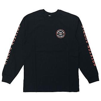 Brixton juramento IV manga comprida T-shirt preto