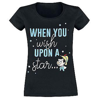Women's Pinocchio 'When You Wish Upon A Star' T-Shirt