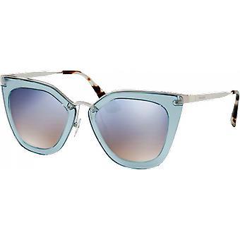 Prada SPR53S azzurro blu trasparente/clear brillava d'argento