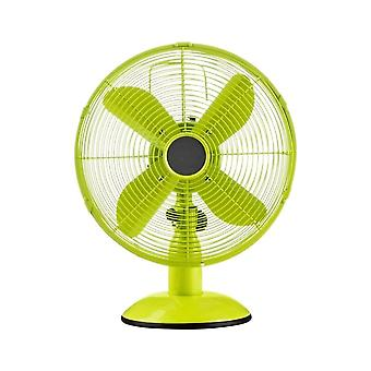 Fusion Living Lime Green Oscillating Metal Desk Fan