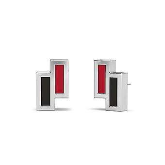San Diego State University Stud Earrings In Sterling Silver Design by BIXLER