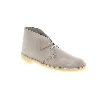 Clarks Desert Boot  Mens Beige Tan Tan Brown Suede Lace Up Desert Boots
