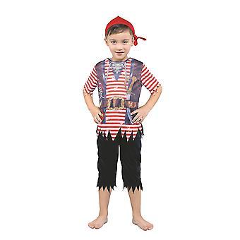 Bristol Novelty Boys Sublimation Pirate Costume