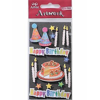 Födelsedagstårtan & ljus kort utsmyckningar av Artoz