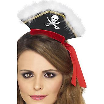 Smiffys Mock Pirate Hat On Headband Black With Marabou (Babies and Children , Costumes)
