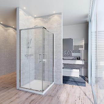 Box doccia 6mm a doppia porta scorrevole cristallo trasparente anticalcare