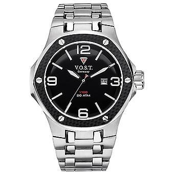 V.O.S.T. Germany V 100.009 Carbon Steel men's Watch 44mm