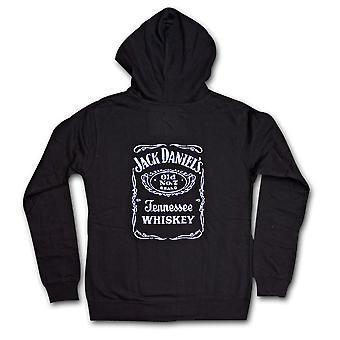 Jack Daniel-apos;s Classic Label Juniors Sweat-shirt à capuchon noir
