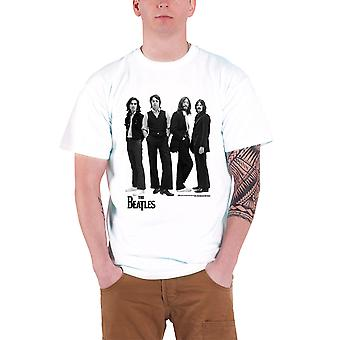 The Beatles T Shirt Standing Iconic Image band logo Official Mens White