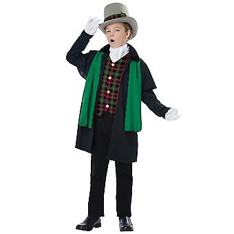 Holiday Caroler Boy Christmas Victorian Olden Day Nativity Child Boys Costume