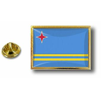 Pins Pin Badge Pin's Metal  Avec Pince Papillon Drapeau Aruba