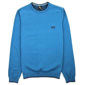 Hugo Boss Rimex Crewneck trui blauw