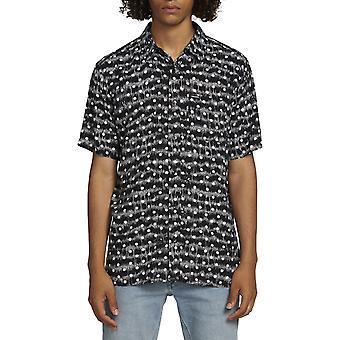Volcom ماج رسم قميص قصير الأكمام باللون الأسود