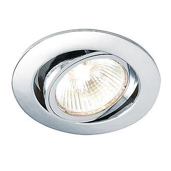 Saxby Lighting Cast 1 Light Recessed Tilt Downlight Chrome Plate 52332