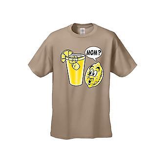 Men's Funny Lemon Kid: Mom? Short Sleeve T-shirt