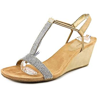 Style & Co. Womens Mulan Fabric Open Toe Casual T-Strap Sandals
