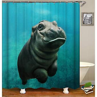 Baby Hippo Shower Curtain