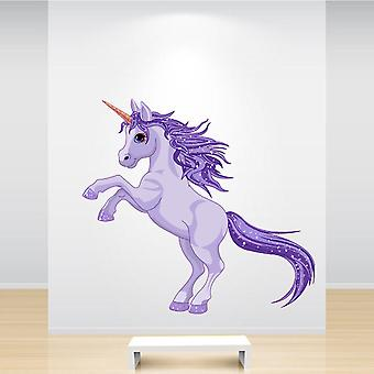 Full Colour Purple Unicorn Sticker