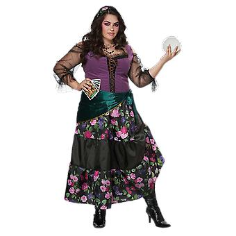 Womens Mystic Fortune Teller Plus Größe Zirkus Fancy Kleid Kostüm