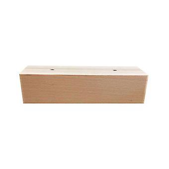 Rechteckige weiße Holzmöbel Bein Höhe 6 cm