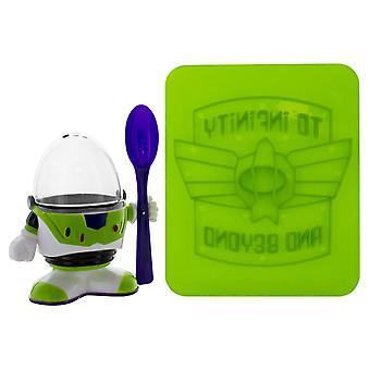Disney Toy Story Eierbecher Buzz Lightyear Toaststempel grün/lila, 100 % Kunststoff, Geschenkverpackung