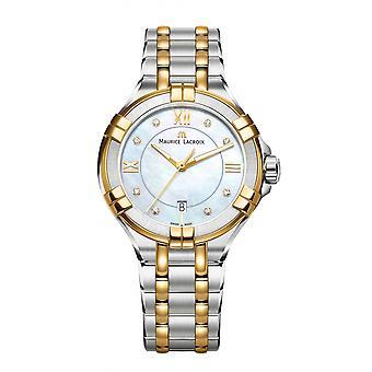 Maurice Lacroix AI1004-PVY13-171-1 Women's Aikon Diamond Set Wristwatch