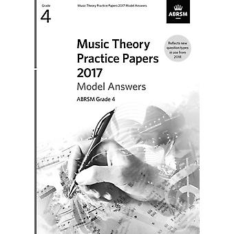 Music Theory Practice Papers 2017 Model Answers ABRSM Grade
