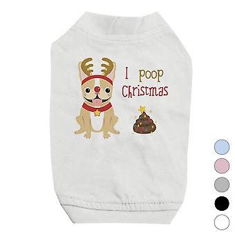 Frenchie Christmas Poop Cute Pets Shirt X-mas Présent