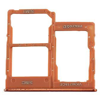 Sim Karten Halter für Samsung Galaxy A40 5.9 Zoll Orange Card Tray Ersatzteil