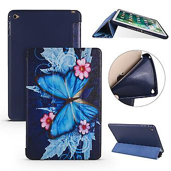 For iPad mini 5 (2019) Case,Folio PU Leather + TPU 3-folding Cover,Butterflies