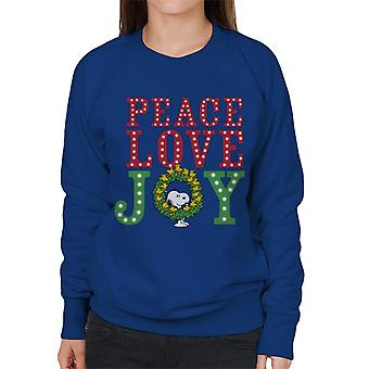Peanuts Snoopy Woodstock Wreath Women's Sweatshirt
