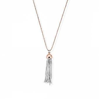 ChloBo RCDC2937 Women's Diamond Cut Chain With Tassel Pendant