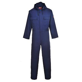 Portwest bizweld flame retardant workwear safety hooded coverall biz6