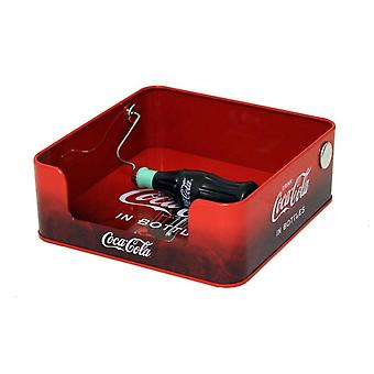 Coke napkin dispenser with spin bottle