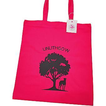 Tote Bag Linlithgow Sort Tæve - Hot Pink & Sort