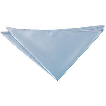Dusty Blue Plain Satin Pocket Square