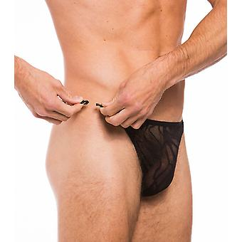 Fizzy clip side thong black