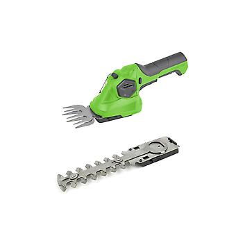 Charles Bentley 3.6V Cordless 2-in-1 Lithium Battery Powered Grass Cutter And Hedge Trimmer - Green