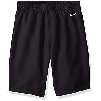 Nike Swim Boys' Big Logo Solid Lap Volley Short Swim Trunk, Nero, Grande