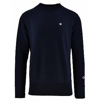 Champion Champion Reverse Weave Navy Logo Sweatshirt
