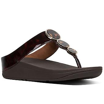 FitFlop™ Halo Tortoiseshell Womens Toe Post Sandals