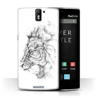STUFF4 Case/Cover for OnePlus One/Lion/Sketch Drawing