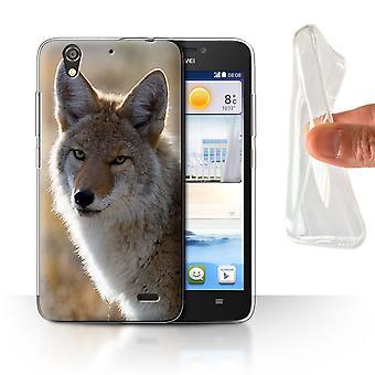 STUFF4 Gel TPU Case/Cover for Huawei Ascend G630/Coyote/North America Animals