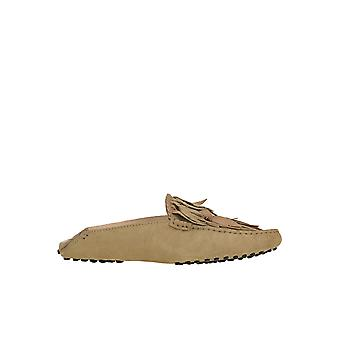 Tod's Ezgl027048 Women's Beige Suede Loafers