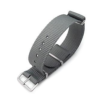 Strapcode n.a.t.o kellohihna miltat 22mm g10 sotilaskellohihna ballistinen nailon käsivarsinauha, harjattu - sotilaallinen harmaa