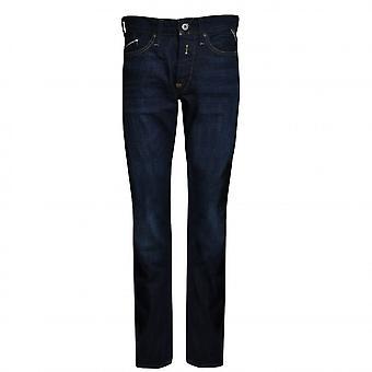 Replay Men's Waitom Deep Blue Denim Regular Slim Jeans