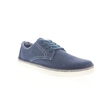 Ben Sherman Preston  Mens Blue Canvas Low Top Plain Toe Oxfords Shoes