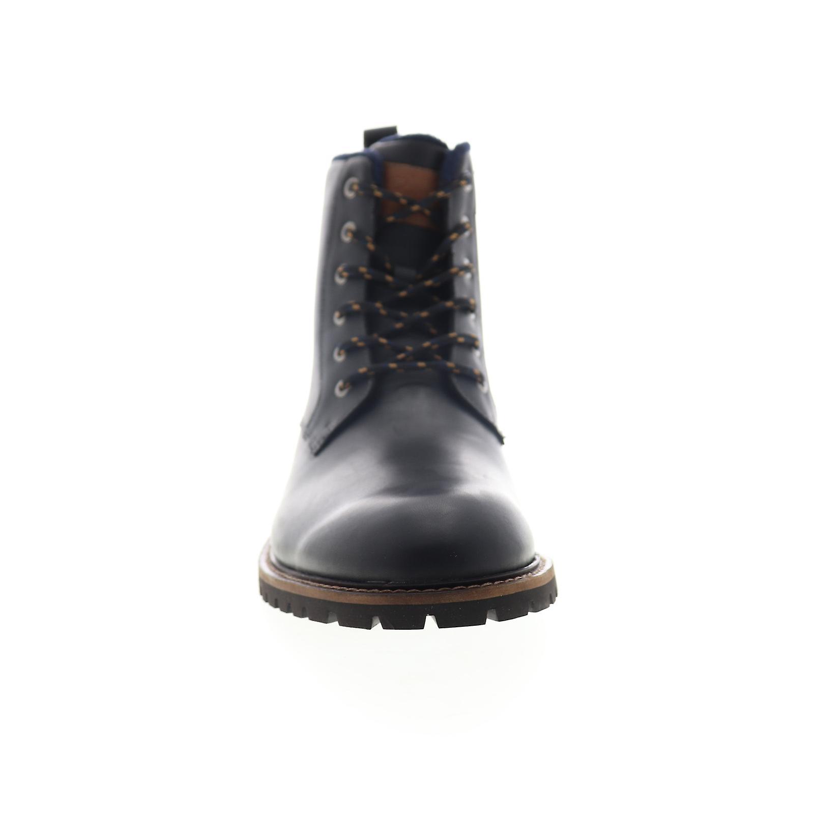 Originele Penguin Jaden Mens Zwart Lederen Rits Casual Dress Boots aI7QS8