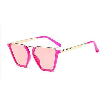 Vintage Half Frame zonnebril alle roze UV400 Gigi